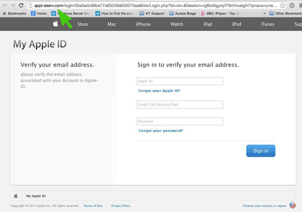 Apple-Phishing-Website