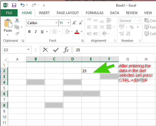 Enter-Data-Multiple-Cells-Excel-2013