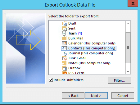 Select-Contacts-Folder