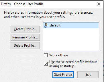 Firefox Profile Manager 2
