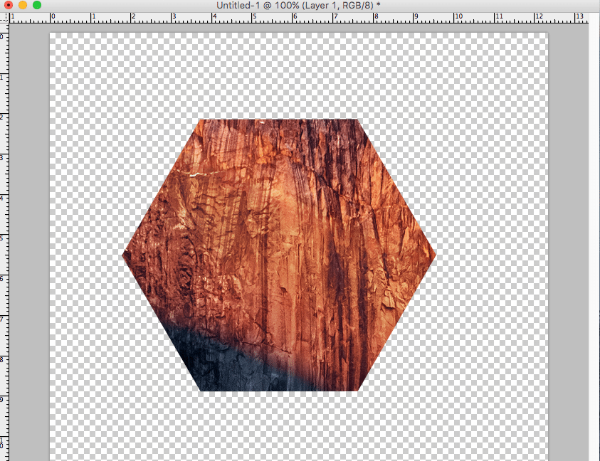 Hexagon Photoshop Clipping Mask