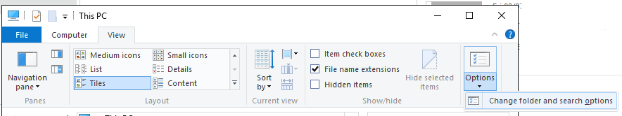 Change-Folder-and-Search-Options